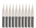 V-bit end mills for PCBs .1mm tips (10 pack)