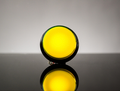 Large Arcade Button with LED - 60mm Yellow