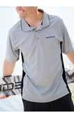 GOODE Grey and Black Athletic Fit Polo Shirt