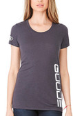 Women's Scoop Tee Grey GOODE Logo