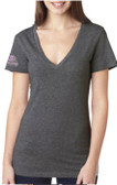 Women's V Neck Grey Team GOODE