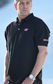 Cotton Polo Black / Orange GOODE Logo