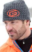 Carbon Weave Beanie Hat with Orange G Logo