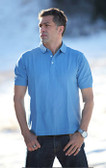 Polo Slate Blue Cotton with GOODE logo