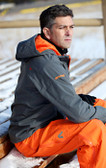 Double Diamond Softshell Grey/Orange with GOODE Logos