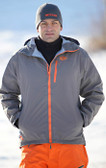 Flylow Ski Jacket Grey with Orange GOODE Logos