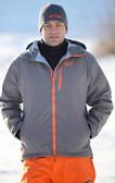 Flylow Ski Jacket Grey with Orange GOODE Logos