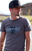 GOODE Charcoal Winged Fitted T-Shirt