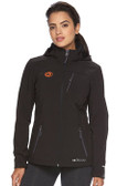 Women's Double Diamond Softshell Black with Orange GOODE Logos