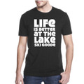 "T-Shirt Black with White ""Life is Better at the Lake SKI GOODE"""