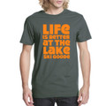 "T-Shirt Heavy Metal with Orange ""Life is Better at the Lake SKI GOODE"""