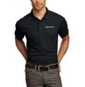 Poly Polo Black with White GOODE logo