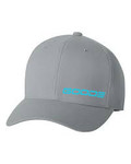 GOODE Unisex Flexfit Mid-Profile Hat Gray/Teal