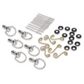 Cycle Quick Fasin' D-Ring Fiberglass Bodywork Hardware Kit With Springs