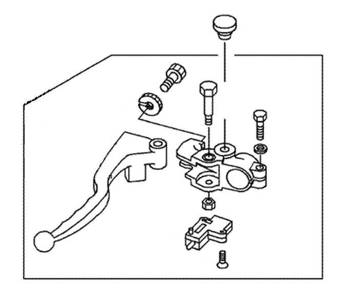 schnitz clutch lever assembly kawasaki kz900