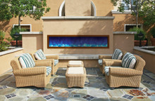 BI-72-SLIM – 72″ wide x 6 3/4″ deep – Outdoor Electric Fireplace