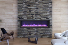 Sierra Flame VISTA-BI-60-12 Deep Indoor or Outdoor Electric Fireplace