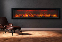 Sierra Flame VISTA-BI-72-12 Deep Indoor or Outdoor Electric Fireplace