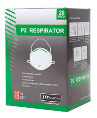 8C100 - JB's P2 Respirator (20PC)
