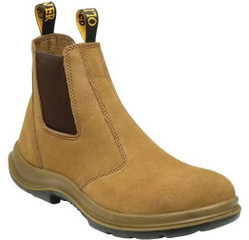 33-624 - Suede Elastic Sided Pull On Boot