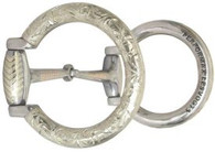 Heavy ring snaffle, #639-18-GS