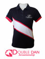 Pink Diagonal Stripe Polo Shirt
