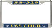 USS Chub SS-329 License Plate Frame