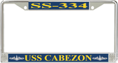 USS Cabezon SS-334 License Plate Frame