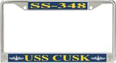 USS Cusk SS-348 License Plate Frame