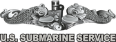 U.S. Submarine Service w/Dolphins Window Decals