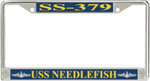 USS Needlefish SS-379 License Plate Frame