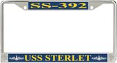 USS Sterlet SS-392 License Plate Frame