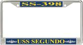 USS Segundo SS-398 License Plate Frame
