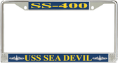 USS Sea Devil SS-400 License Plate Frame
