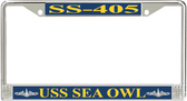 USS Sea Owl SS-405 License Plate Frame