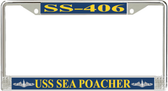 USS Sea Poacher SS-406 License Plate Frame