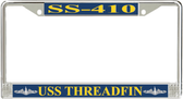 USS Threadfin SS-410 License Plate Frame