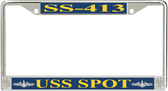 USS Spot SS-413 License Plate Frame