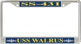 USS Walrus SS-431 License Plate Frame