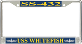 USS Whitefish SS-432 License Plate Frame