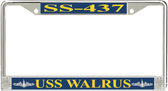 USS Walrus SS-437 License Plate Frame