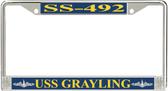 USS Grayling SS-492 License Plate Frame