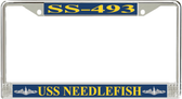 USS Needlefish SS-493 License Plate Frame