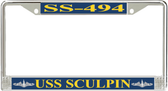 USS Sculpin SS-494 License Plate Frame