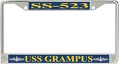 USS Grampus SS-523 License Plate Frame