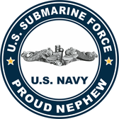 US Submarine Force Proud Nephew Decal