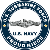 US Submarine Force Proud Niece Decal