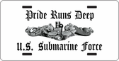 Pride Runs Deep Submarine Auto Tag
