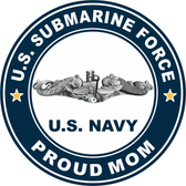 US Submarine Force Proud Mom Decal