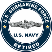 US Submarine Force Retired Decal